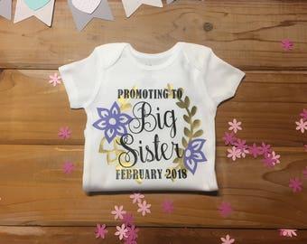 Personalized Big Sister Onsie