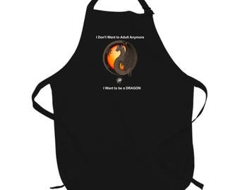I Want To Be A Dragon Apron
