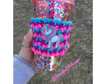 Unicorn/ Majestic/ Coffee Sleeve/ Travel Mug Cozy/ Tumbler Cozy/ Mug Sweater