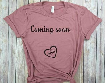 coming soon 2018, preggers shirt, pregnancy announcement shirt, worth the wait, coming soon reveal, birth announcement, maternity tee