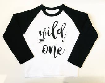 Wild one tshirt, wild one baby shirt, wild one baby top, wild one top, baby boy clothes, wild one clothes, first birthday clothes, i am one