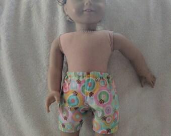 "pretty summer shorts for 18"" doll"