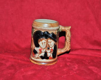 Ancient Alsatian ceramic beer mug