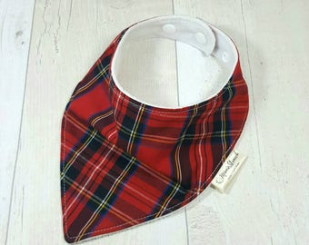 Scottish tartan, bandana bib, tartan dribble bib, new baby gift, toddler gift, baby neckerchief, drool bib, Scottish baby, modern babies