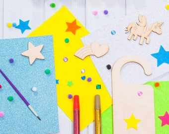 Personalised Make Your Own Unicorn Door Hanger
