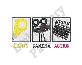 Lights Camera Action - Machine Embroidery Design