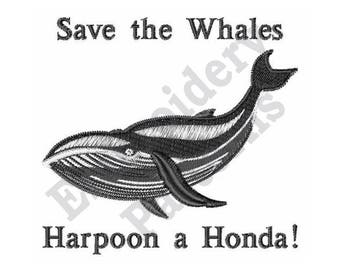Save The Whales - Machine Embroidery Design