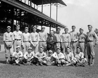 "1922 Park View Juniors Baseball Team Vintage Photograph 8.5"" x 11"""