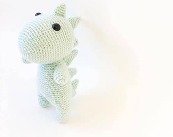 PATTERN - Marshmallow The Dinosaur - amigurumi pattern, crochet pattern, PDF