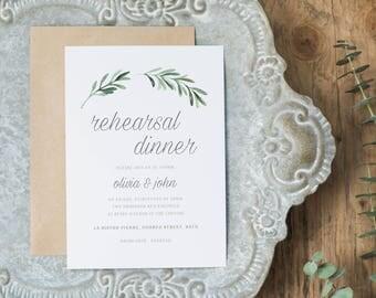Wedding Rehearsal Dinner Printable, Rehearsal Dinner Invitation Template, DIY Rehearsal Dinner Invite Template Instant Download - KPC02_503