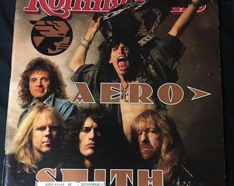 1990 Rolling Stone Magazine- Aerosmith