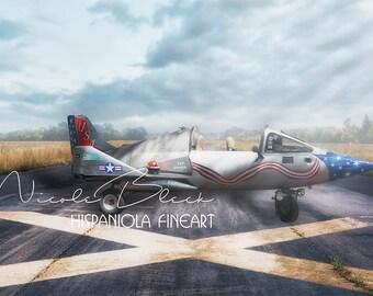 Airplane, Child, Sky, runway, Aircraft, Digital backdrop, Fantasy, Photography, Composing, Pilot
