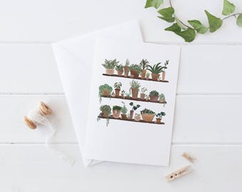 Shelfie - Botanical Greeting Card