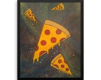 Cosmic Pizza Framed poster