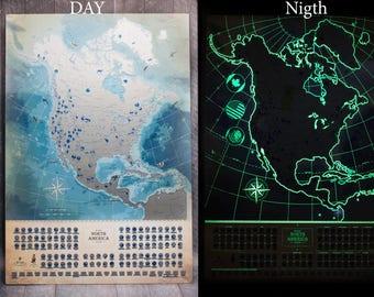 Large SCRATCH MAP Usa- Scratch off map usa, Scratch world map, Usa map, Travel map, united states map, World map, Map USA scratch, America