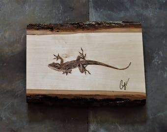 Wood-Burning: Green Anole Lizard