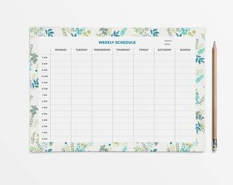 Stylish planner printable, Undated planner, Weekly planner pad, Desk planner, Student planner, Weekly schedule, Weekly organizer, Desk pad