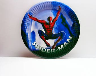 Spider-Man paper plates. Paper plates 10 pcs. Set for children's party or birthday. Spider-Man for boy's birthday. Spider-Man plate.