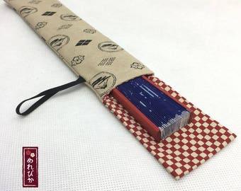 Japanese Folding Fan Case with Cat patterns Folding Fan Japanese style fabrics Fuji Beige Red Folding Fan Sleeve - Free Shipping!!