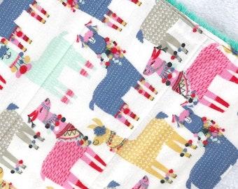 llamas burp cloth baby gift new mom gift set fancy baby gift new baby gift set mom to be gift new baby set for mom baby shower gift set