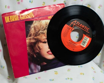 Debbie Gibson  (7 inch) Record -  Only in my Dreams / Only in my dreams (dub) -45 rpm picture sleeve
