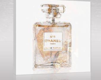 Chanel no 5 perfume canvas art modern art pop art Chanel art