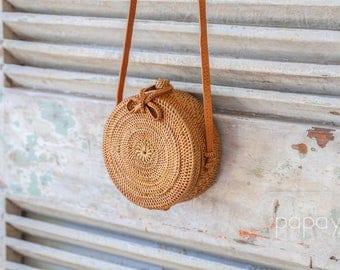 Basket Bag, Round Bag, Straw Bag, Rattan Basket Bag, Woven Bag, Picnic Basket, Round Basket Bag, Market Basket, Shoulder Bag, Woven Basket