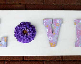 Love Handmade Wooden Sign