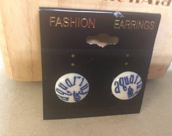 Handmade earring zodiac earrings