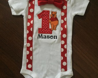 Winnie the Pooh first birthday baby boy outfit, Winnie the Pooh 1st Birthday Party