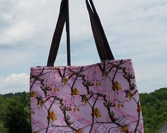 Pink Camouflage Purse/ Tote Bag