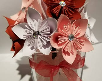 Paper star flower arrangement