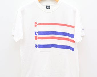 Vintage STUSSY Streetwear Hip Hop White Tee T Shirt Size M