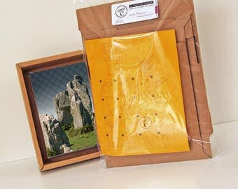 """printed cardboard frame """"The mysterious stones"""""""