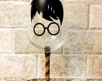 Harry Potter Custom Wine Glass