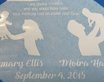 """Adult Twinless Twin loss shirt """"your memory lives on inside your twin"""""""