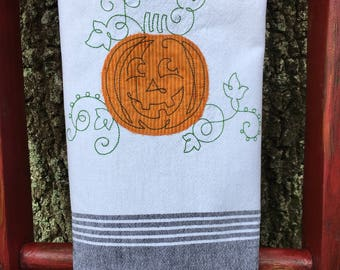 Jack-o-Lantern Kitchen Towel