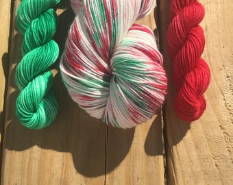 Mistletoe Kit | Christmas Yarn | Holliday Yarn | Hand Dyed Yarn | Indie Dyed Yarn