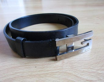 One size black Gucci belt with-67%