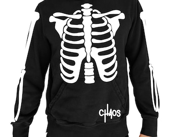CHAOS Skeleton Body Graphic Hoodie