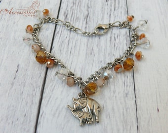Elephant Wish Bracelet Lucky Elephant Charm Bracelet Elephant Charm jewelry Boho Hippie Friend wish bracelet Talisman Friendship Animal
