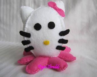 Hello Kitty Plushy; Custom Plushie Octopus; Stuffed Plush; Hello Kitty; Sanrio; Sanrio Stuffed Animal; Toy; Stuffed Octopus