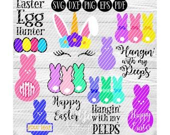 Unicorn Face SVG, Easter svg, bunny unicorn svg, holiday svg, Easter bundle svg, hangin with my peeps svg, happy easter svg, bunny svg, egg