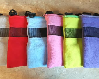 Bonding pouch with adjustable strap for sugar gliders and other small animals