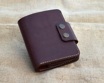 Men's wallet made from genuine leather, handmade