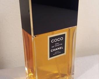 Vintage Coco Chanel Eau De Toilette Perfume 100ml 3.4 fl oz