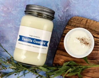 Vanilla Custard Scented Natural Soy Wax Candle