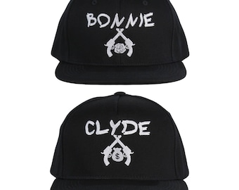 Bonnie and Clyde Hat Couple Hats His and Hers Couple Caps
