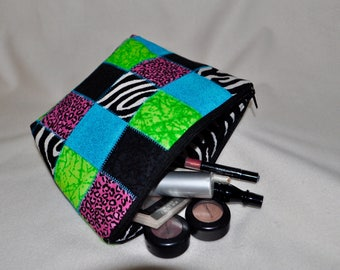 Large Quilted Handmade Cosmetic Bag