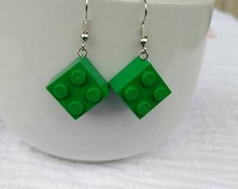 Lego Ohrringe Grün